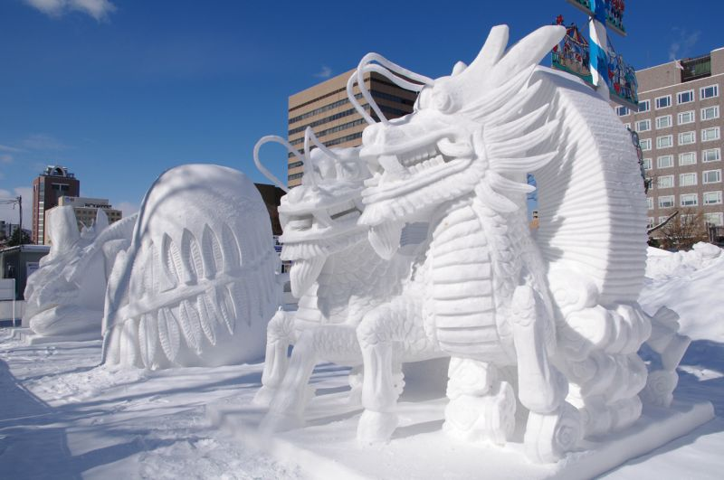 Lễ hội tuyết độc đáo ở Nhật Bản